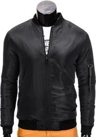 Ombre clothing kurtka męska przejściowa bomberka c336 - czarna