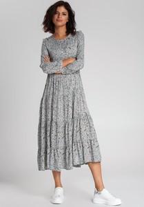 Sukienka Renee w stylu casual maxi z długim rękawem