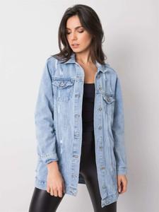 Kurtka Promese krótka z jeansu w stylu casual