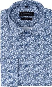 Niebieska koszula Giacomo Conti z bawełny z klasycznym kołnierzykiem w młodzieżowym stylu