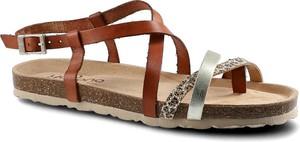 Brązowe sandały Yokono w stylu boho