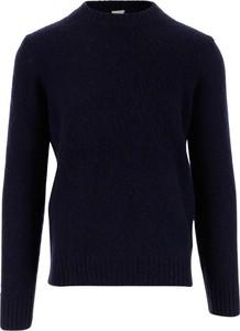 Niebieski sweter Aspesi z okrągłym dekoltem w stylu casual
