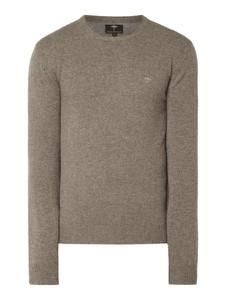 Brązowy sweter Fynch Hatton w stylu casual z wełny