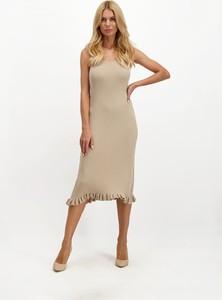 Sukienka Lavard z okrągłym dekoltem wyszczuplająca