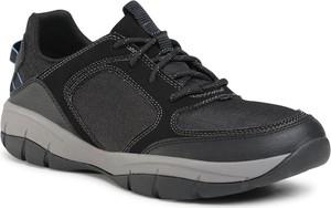 Czarne buty sportowe Clarks sznurowane