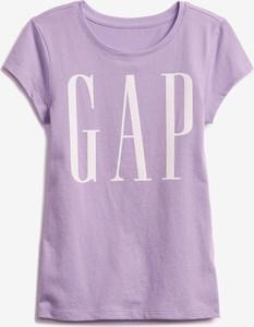 Fioletowa bluzka dziecięca Gap dla dziewczynek z bawełny