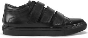 Domeno Czarne sneakersy na rzepy 4030