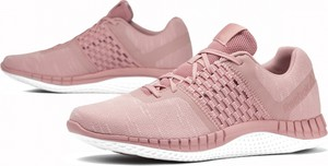 Różowe buty sportowe Reebok sznurowane