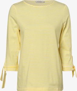 Żółta bluzka März w stylu casual z długim rękawem