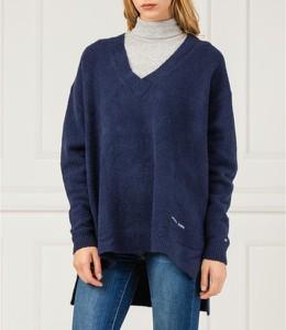 Niebieski sweter Tommy Jeans z wełny w stylu casual