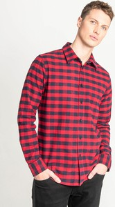 Czerwona koszula Lee w stylu casual z długim rękawem z klasycznym kołnierzykiem