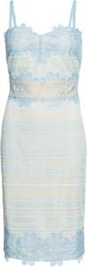 Niebieska sukienka bonprix BODYFLIRT boutique
