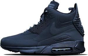 Granatowe buty sportowe Nike sznurowane air max 90