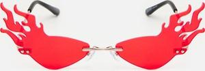 Czerwone okulary damskie Cropp