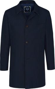 Granatowy płaszcz męski Lavard z bawełny