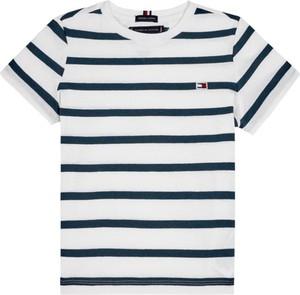 Koszulka dziecięca Tommy Hilfiger z krótkim rękawem w paseczki