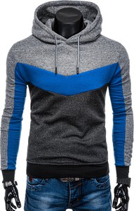 Niebieska bluza Edoti w młodzieżowym stylu