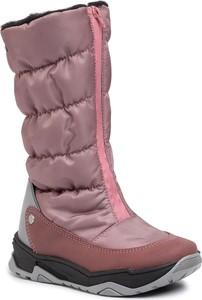 Różowe buty dziecięce zimowe Bartek na zamek