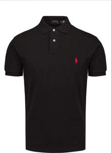 Czarna koszulka polo POLO RALPH LAUREN w stylu casual