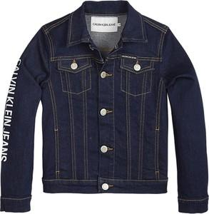 Granatowa kurtka dziecięca Calvin Klein z jeansu