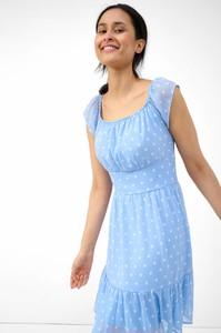 Niebieska sukienka ORSAY z okrągłym dekoltem