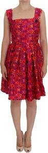 Czerwona sukienka Dolce & Gabbana z jedwabiu na ramiączkach
