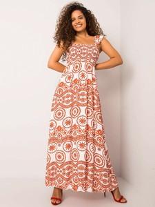 Sukienka Promese z dekoltem w kształcie litery v maxi