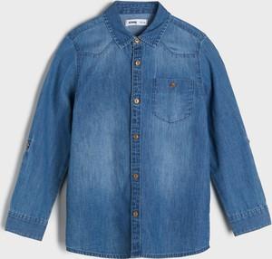 Granatowa koszula dziecięca Sinsay z jeansu dla chłopców