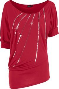 T-shirt bonprix BODYFLIRT w stylu glamour z okrągłym dekoltem