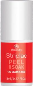 Lakier hybrydowy Striplac Peel or Soak Classic Red 8 ml czerwony alessandro