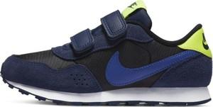 Granatowe buty sportowe dziecięce Nike dla chłopców na rzepy
