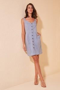 Sukienka Trendyol mini prosta z dekoltem w kształcie litery v