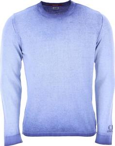 Niebieski sweter C.P. Company z okrągłym dekoltem