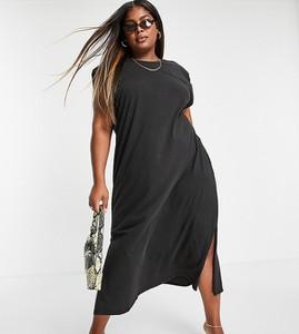 Sukienka Only z okrągłym dekoltem maxi z długim rękawem