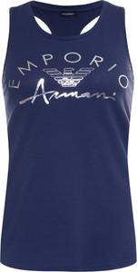 Top Emporio Armani w młodzieżowym stylu z okrągłym dekoltem