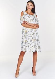 Sukienka Fokus midi z okrągłym dekoltem