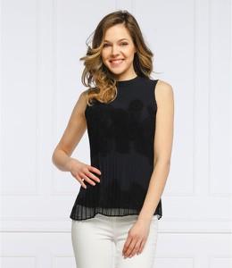 Czarna bluzka Desigual w stylu casual z okrągłym dekoltem