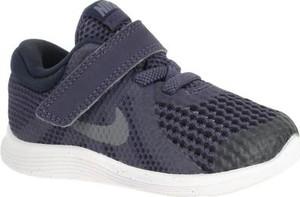 Granatowe buty sportowe dziecięce Nike na rzepy