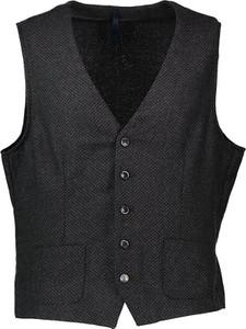 Czarna kamizelka Sisley z wełny