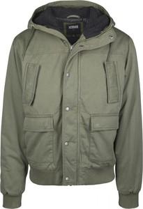 Zielona kurtka Urban Classics z bawełny krótka