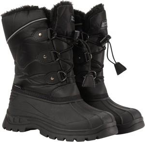 Czarne buty dziecięce zimowe Mountain Warehouse sznurowane