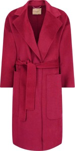 Czerwony płaszcz Twinset z wełny