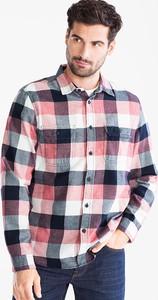 Koszula ANGELO LITRICO z długim rękawem z bawełny