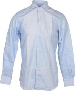 Niebieska koszula Xacus z bawełny z długim rękawem