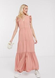 Sukienka Notes Du Nord maxi z dekoltem w kształcie litery v