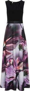 Fioletowa sukienka bonprix bodyflirt boutique rozkloszowana maxi