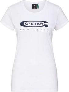 Bluzka G-Star Raw z bawełny z krótkim rękawem w młodzieżowym stylu