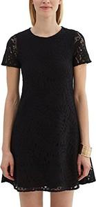 Czarna sukienka amazon.de mini w stylu casual z okrągłym dekoltem