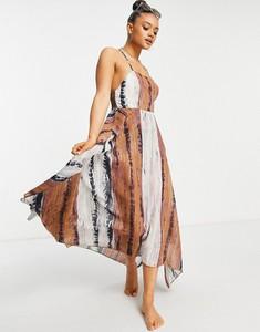 Sukienka Asos na ramiączkach z dekoltem w kształcie litery v midi