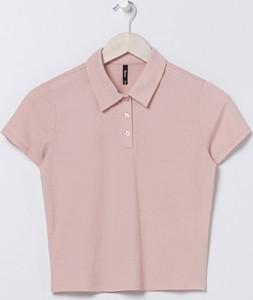 Różowa bluzka Sinsay w stylu casual